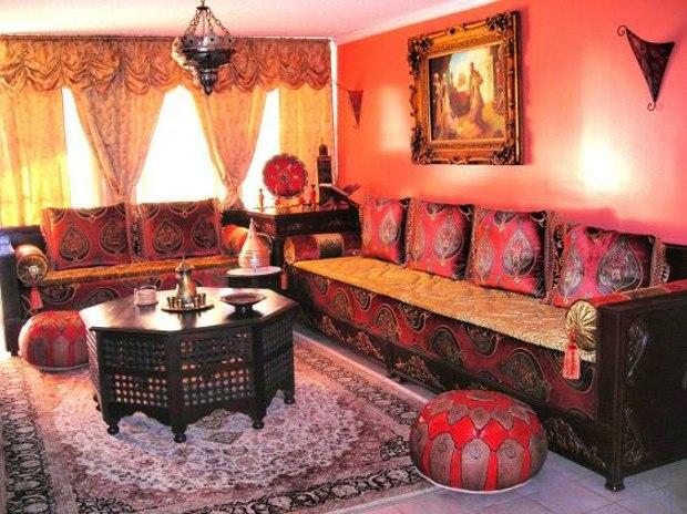 salon marocain design riche en textures