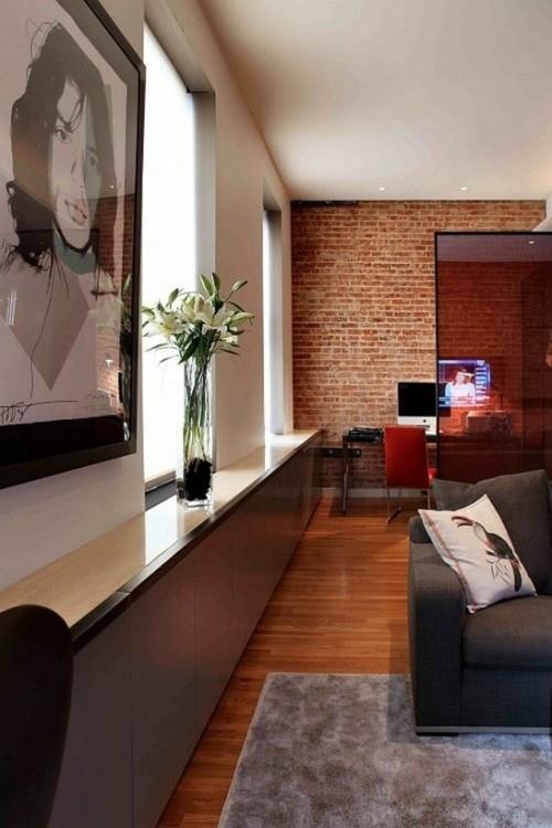 salon minimaliste moderne sol bois