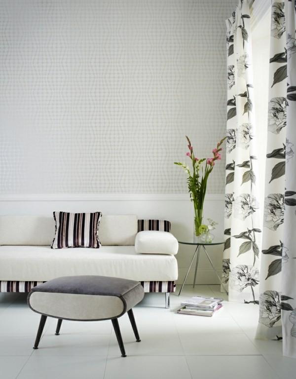 salon minimaliste rideaux deco