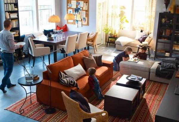 salon salle manger meubles Ikea