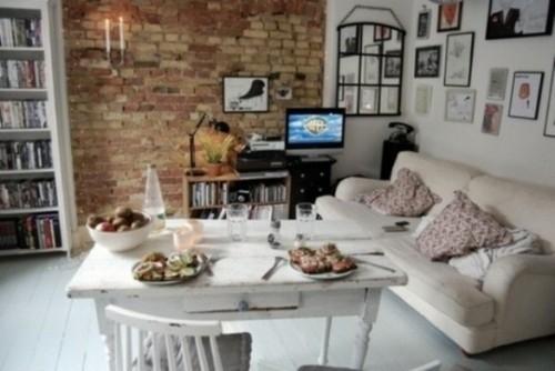 style rustique salon moderne