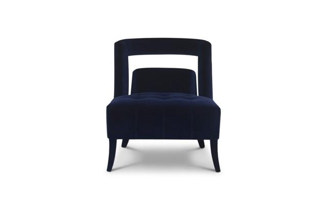 Superbe fauteuil par BRABBU bleu foncé dossier