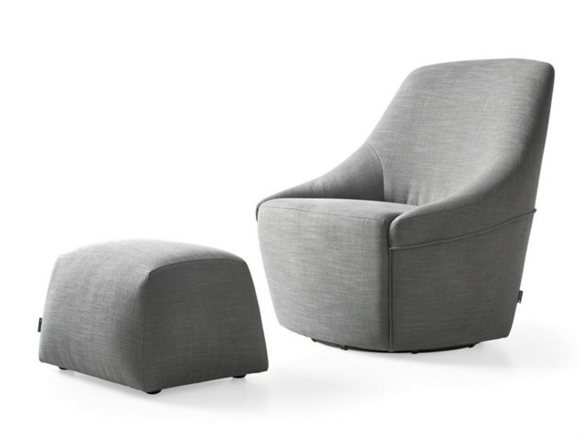 Calligaris présentent tissu doux fauteuil confortable gris