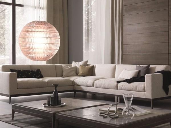 Canapé d'angle en blanc par Misura Emme