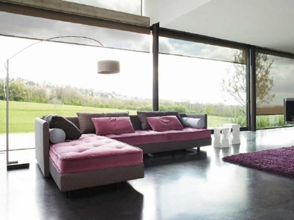 Canapé d'angle rose par Roset Italia