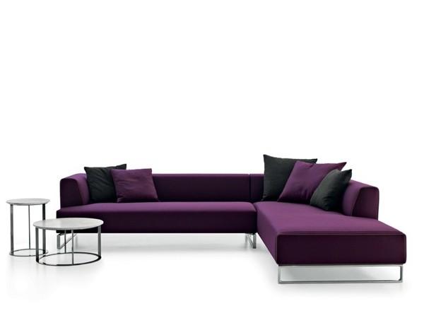 Canapé d'angle en violet par SOLO'14