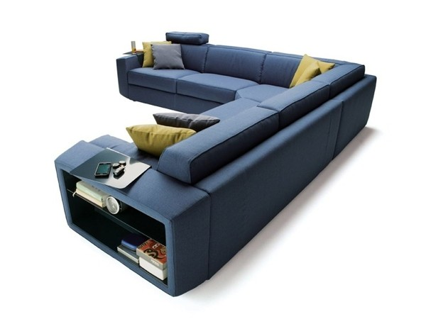 Canapé bleu d'angle par Milano Bedding
