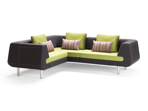 Canapé noir et vert par Stouby Furniture
