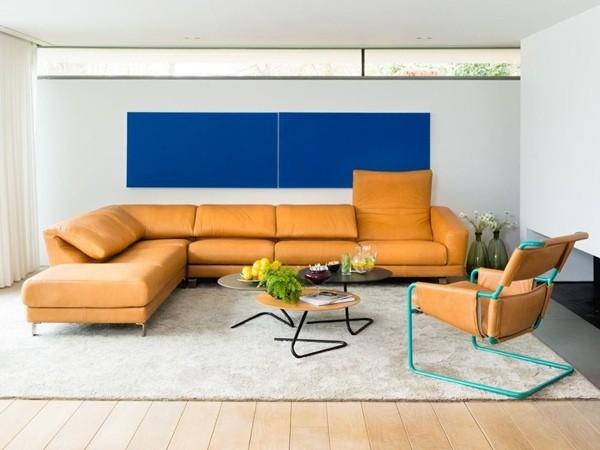 Canapé d'angle par Durlet