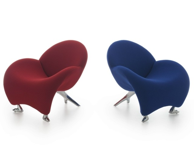 Bleu et rouge fauteuil par LEOLUX meuble salon
