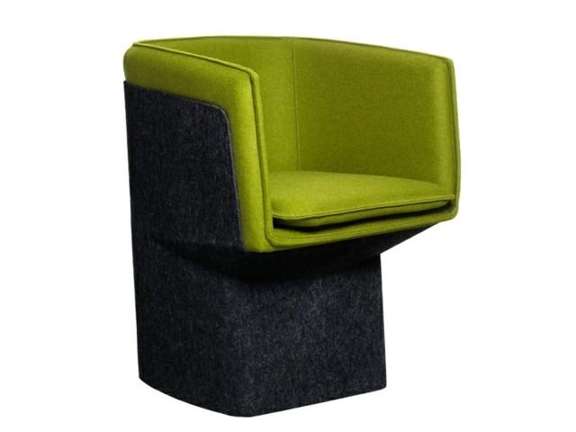 Fauteuil design unique par Swedese Möbler scandinave vert gris