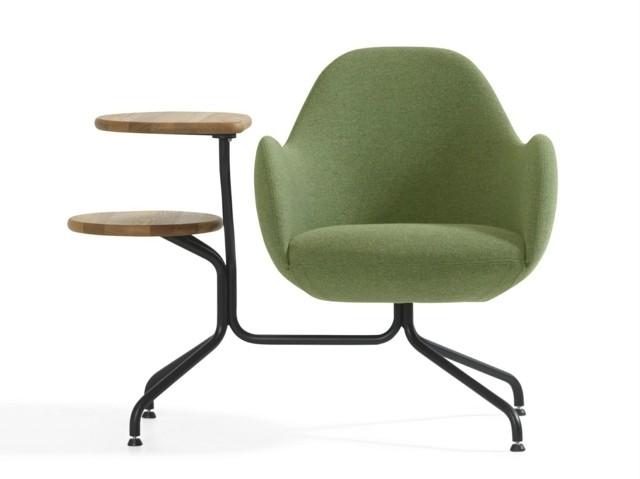 Bla Station avec leur fauteuil design avec petite table vert idée
