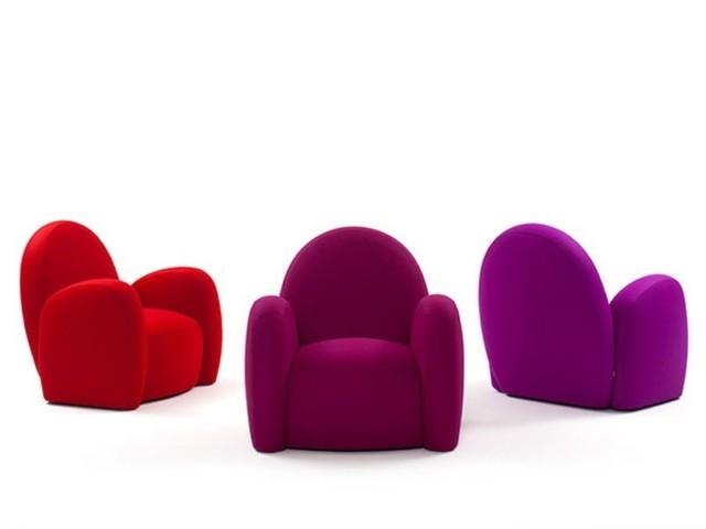 Fauteuils en couleurs vives par MaMa Design Italia chaudes violet rouge