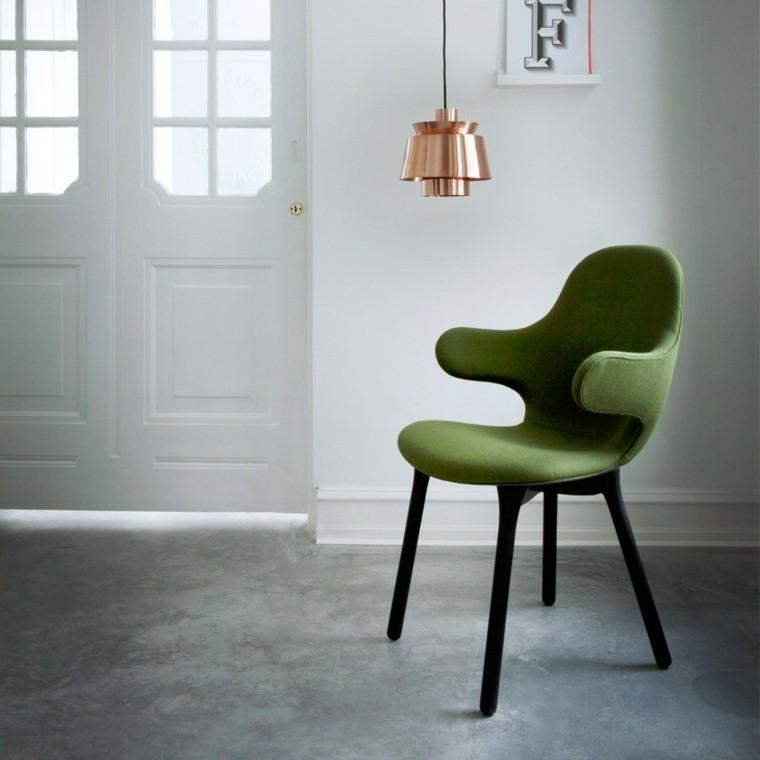 fauteuil design vert &Tradition