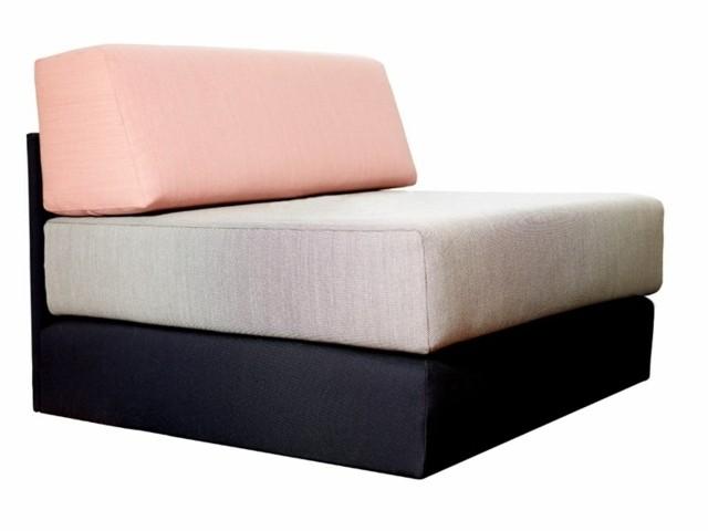 Confort absolu par Dessau Design coussin contraste rose noir