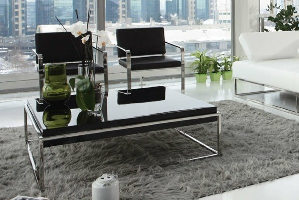 idee table basse elegante noir