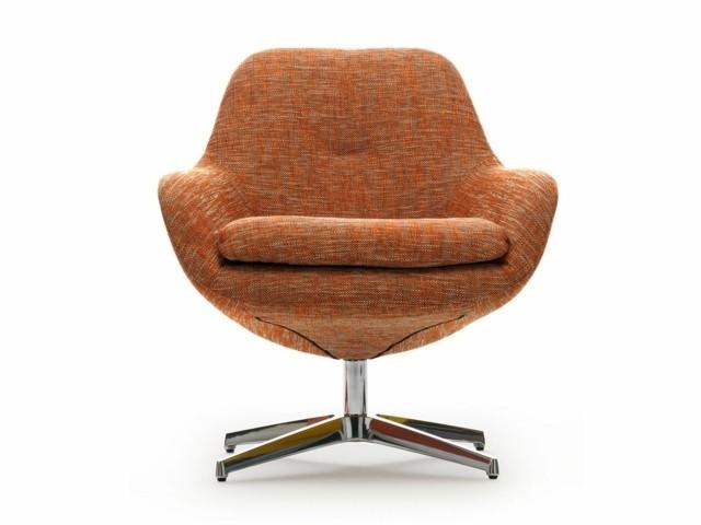 Style rétro par LEOLUX orange fauteuil vintage