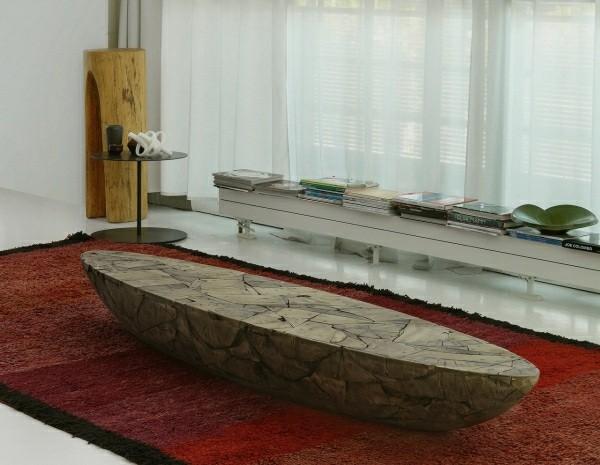 table basse bois multifonction design