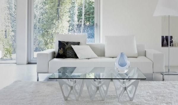 table basse moderne blanc design