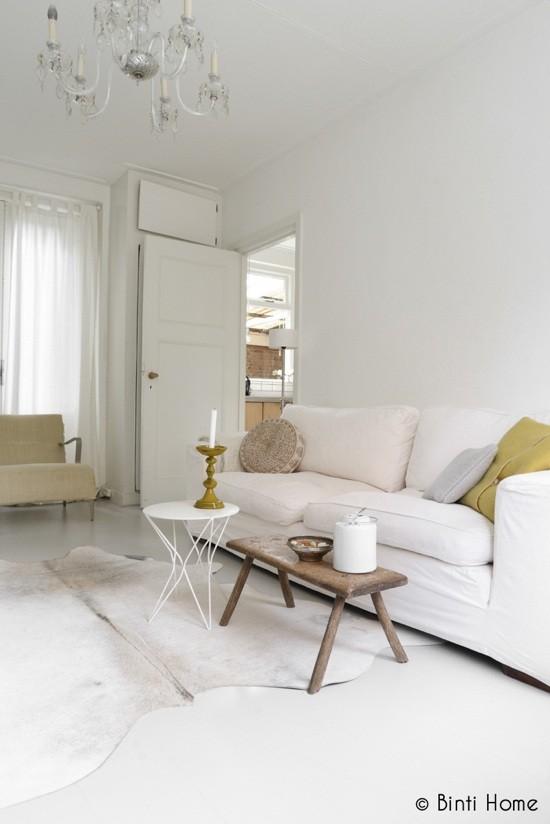 Salon ensoleillé blanc