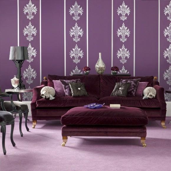 ameublement salon design moderne violet
