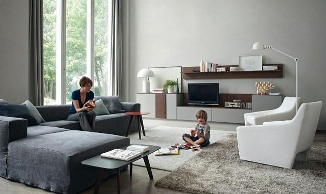 canapé moderne luxueux gris comfortable