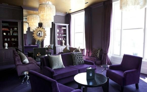 deco salon elegant violet