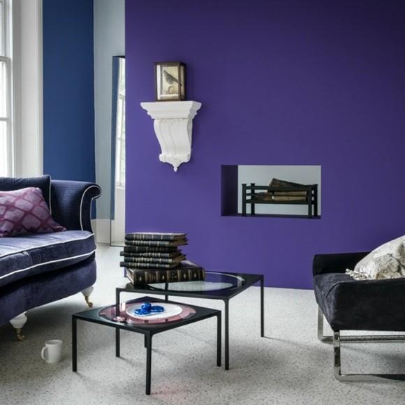 deco salon moderne nuances violet