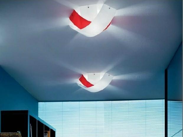 lampe deco blanc rouge PANZERI