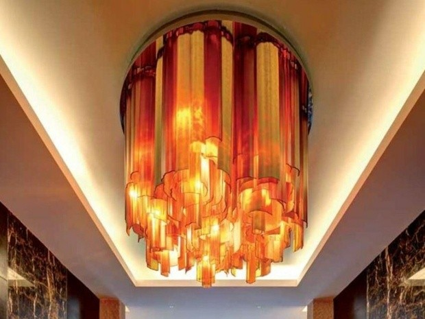 lampe luxueuse salon Lasvit