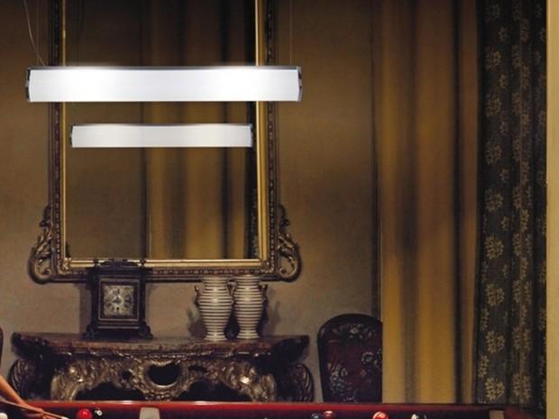 lampes pendantes longues Vetreria Vistosi