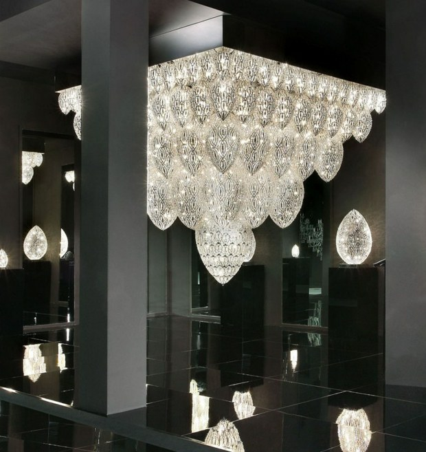 luminaire salon cristaux VGnewtrend