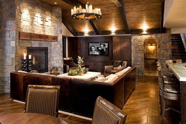 salle sejour moderne ouverte ensemble maison