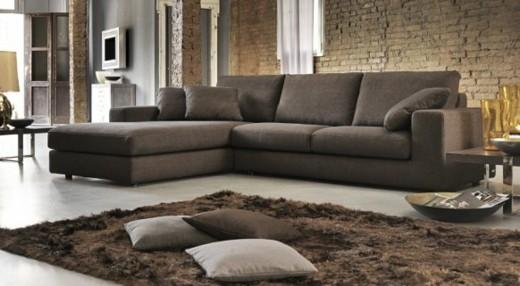 Poltronesofà canape moderne marron design