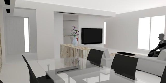 Salon élégant avec des meubles laquées
