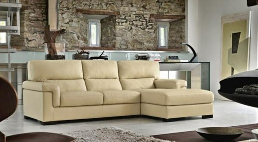 canape deco cuir beige