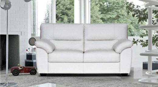 canape elegant deux places blanc