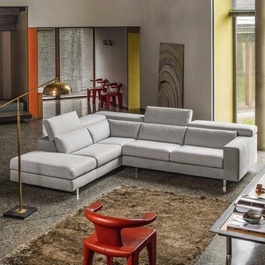 canape elegant design gris
