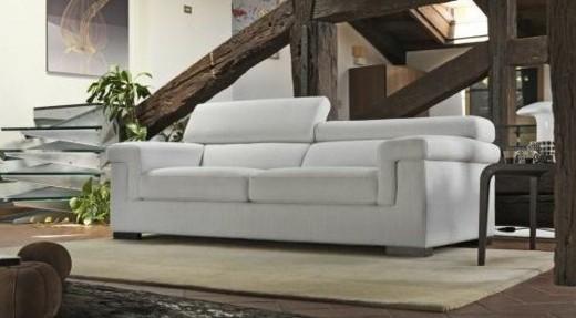 canape elegant tissu blanc
