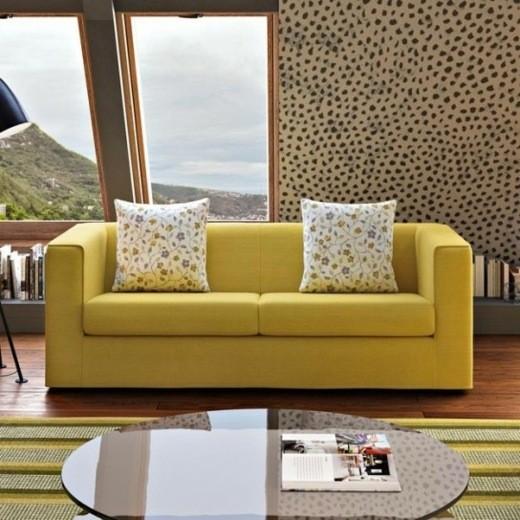 canape moderne salon jaune