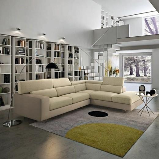 canape salle sejour beige