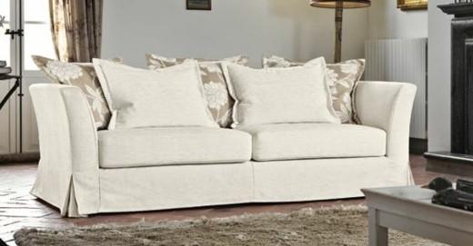 canape tissu coussins beige blanc