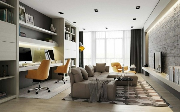 décoration salon bureau luminaires espace détente