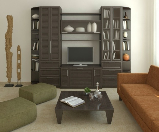 meuble versatile TV doublé d'étagères
