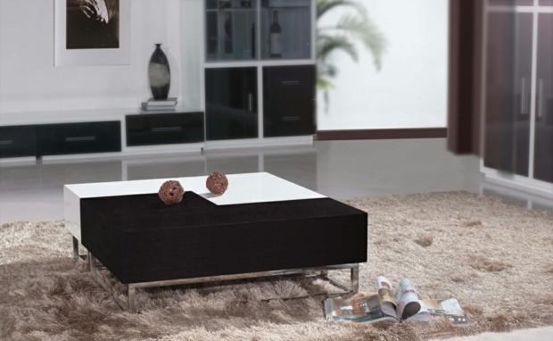 table basse tendance pour salon deux couleurs