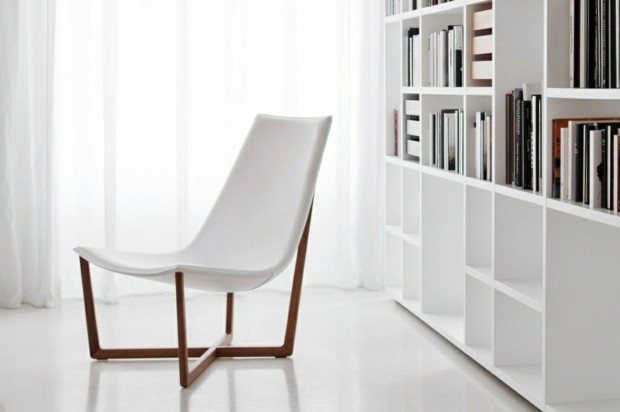 coin lexcture moderne avec superbe chaise blanche