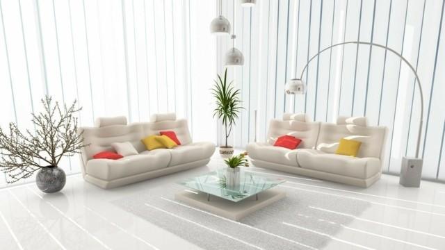 decoration couleur blanche interieur salon
