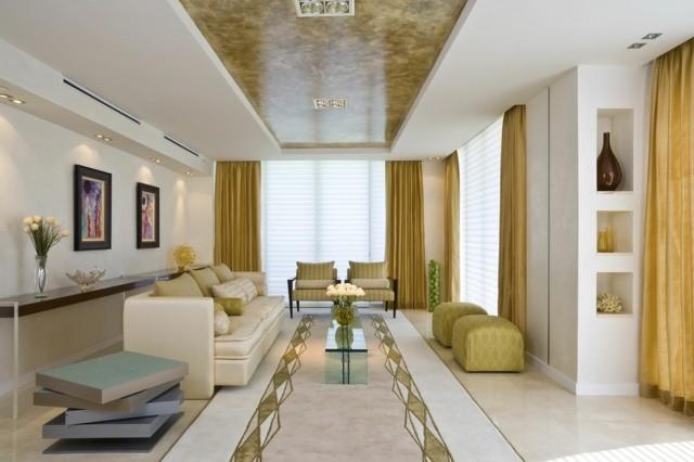 decoration couleur blanche salon interieur