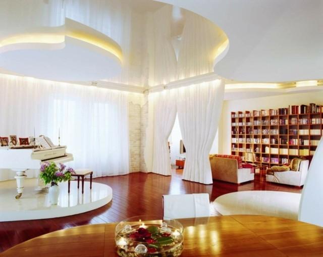 decoration interieur salon couleur blanche