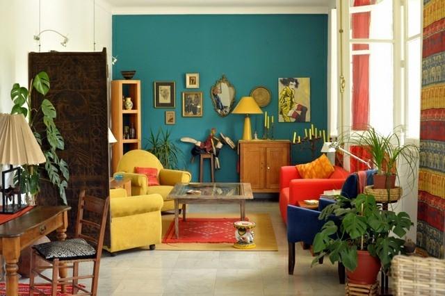 decoration interieur salon couleurs diiferentes